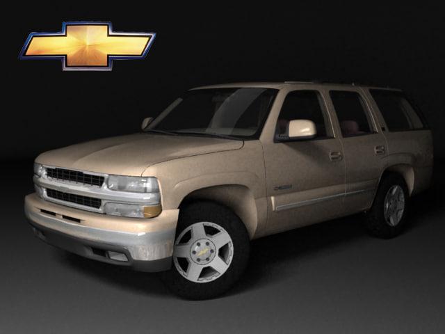 3d model chevrolet tahoe