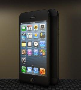 3d model iphone 5 phone