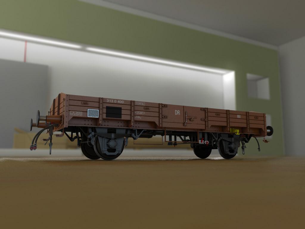 3d german wagon ho model