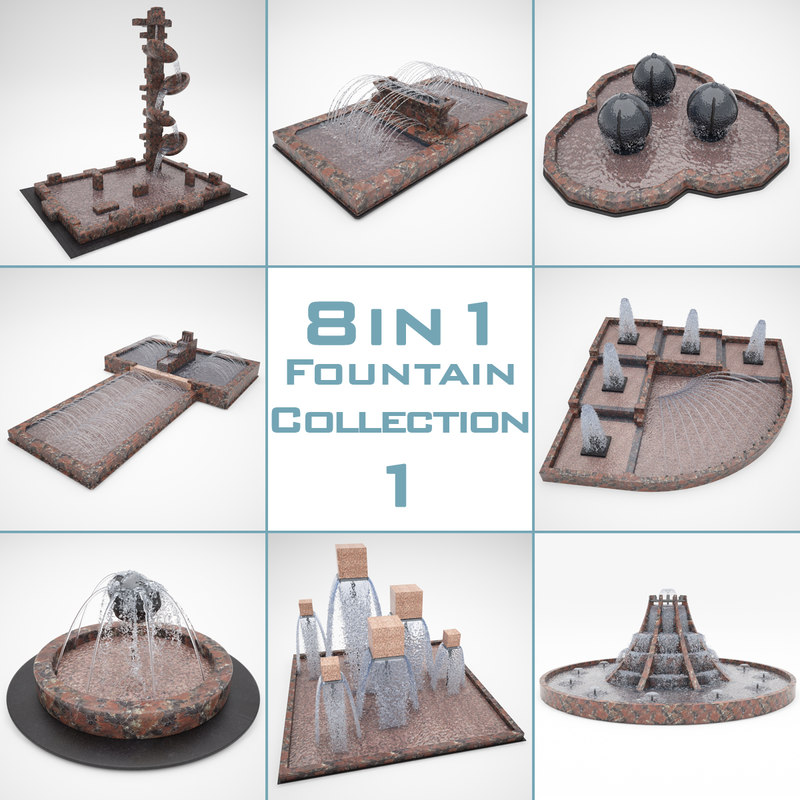 3d fountain 8 1
