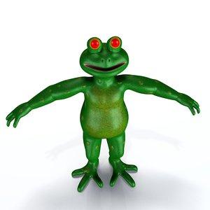 obj cartoon frog