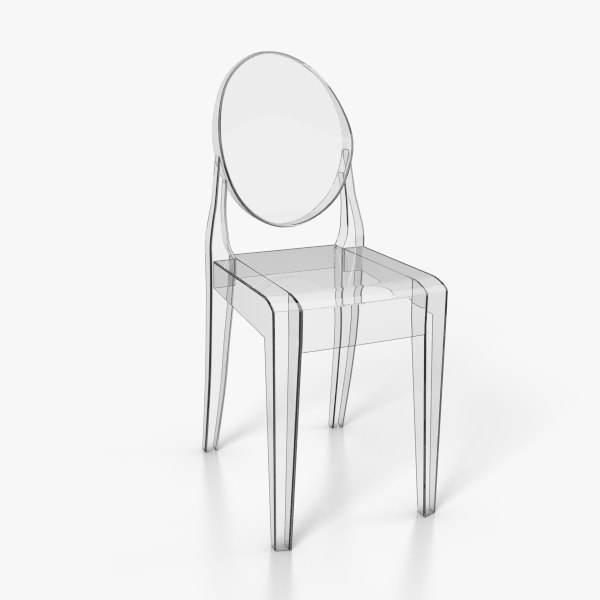 3d ghost chair model