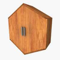 hexagonal wall cabinet 3d model