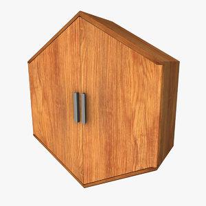 hexagonal wall cabinet 3d model