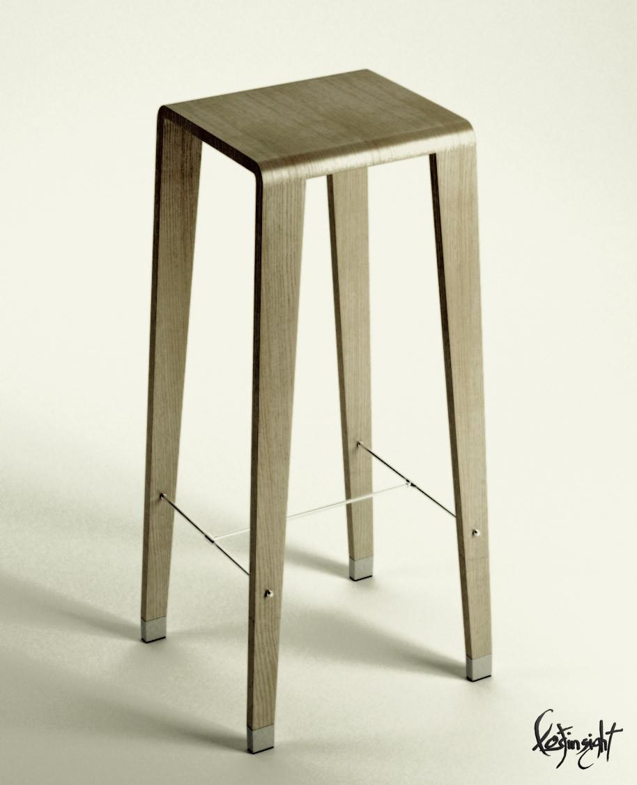 chair kede fanera 3d model