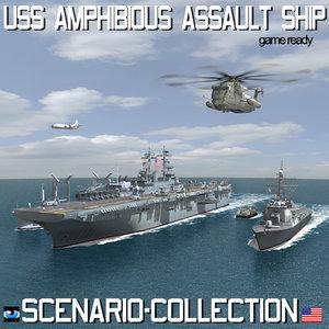 uss navy amphibious assault 3d model