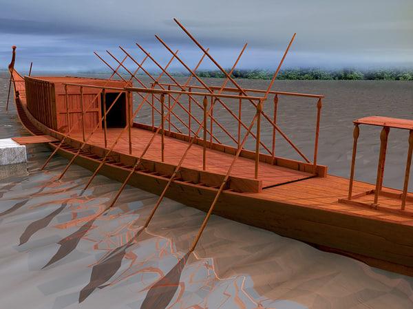 3d max royal ship cheops khufu