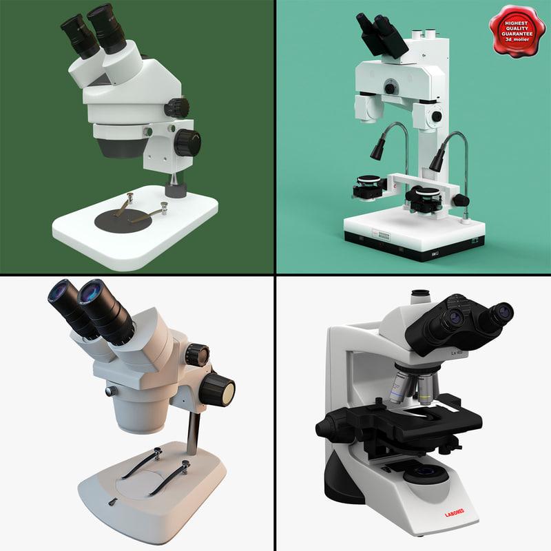 3d microscopes 3 model