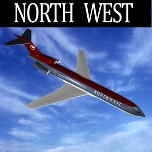 north west 727-230 3d model