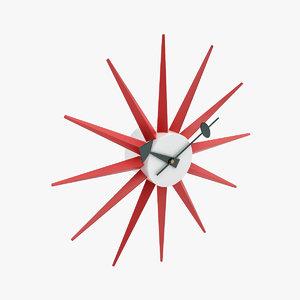george nelson clocks 3d model