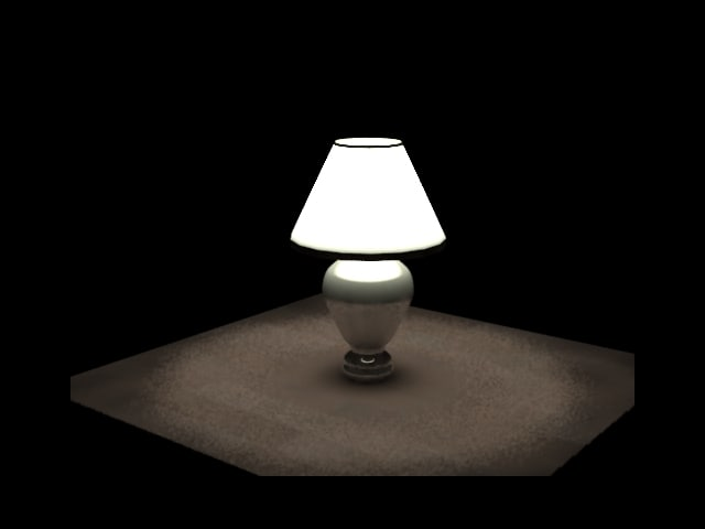 3d white lamp home