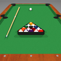 Pool Table / Billiards Set: C4D Format