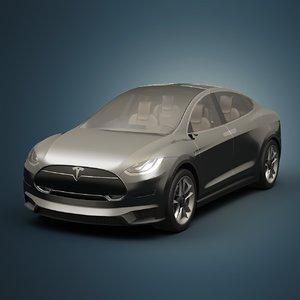 3d tesla x electric car