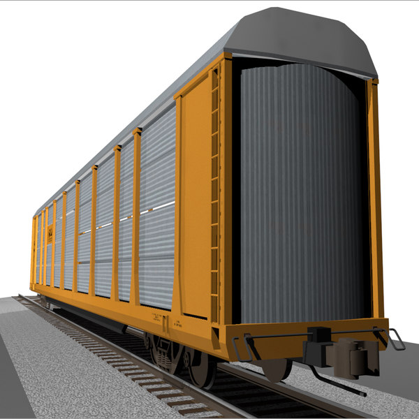 train car autorack 3d c4d