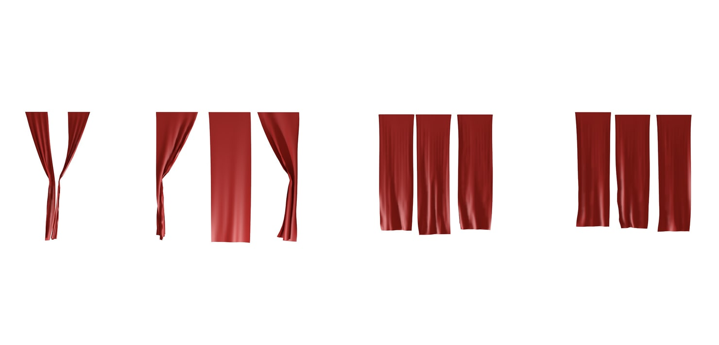 individual curtain 3d obj