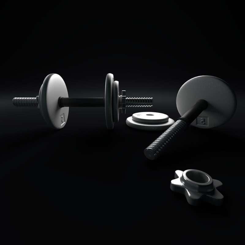3d model dumbbell weights