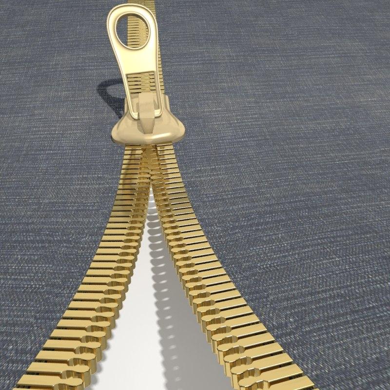 3dsmax open zipper