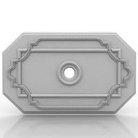 ceiling medallion 3d model