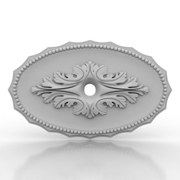 3d model of ceiling medallion
