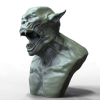free obj mode demon head 1