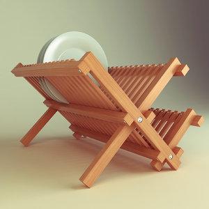 dishes rack 3d model