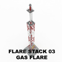 Flare stack (gas flare) 03