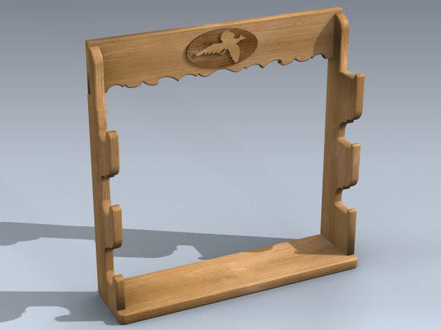 3d model of gun rack