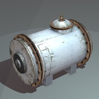 3d model horizontal tank