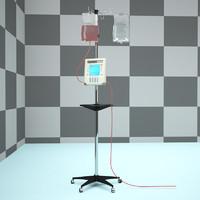 iv intravenous pump machine bag stand hospital