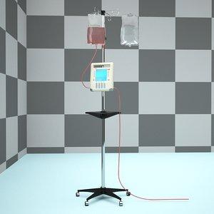 iv intravenous pump machine 3d max