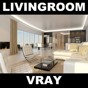 interior livingroom 3d model