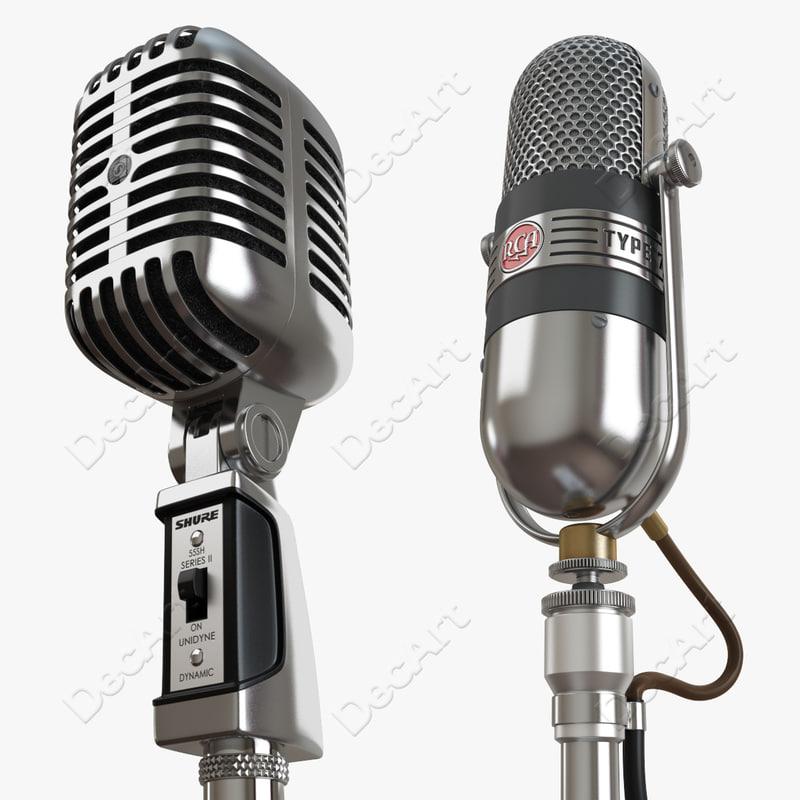 retro microphones max