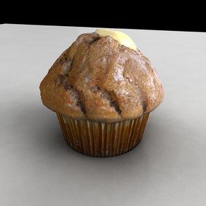 muffin bite 3d model