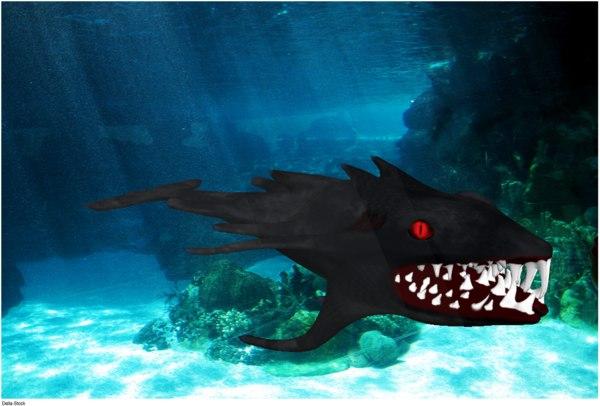 mutant shark 3d model