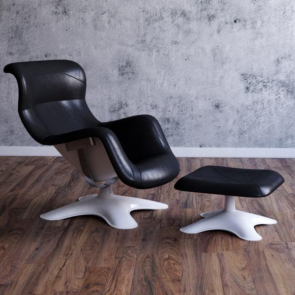 3d model karuselli swivel chair
