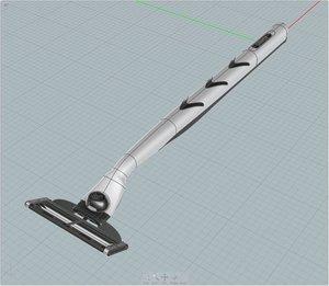 3d razor gillette model