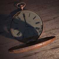 pocket watch 3d max