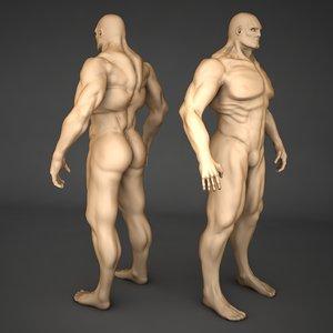3ds max male body