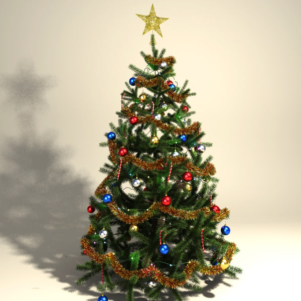 Model Of Christmas Tree: Decorated Christmas Tree Max