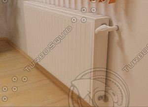radiator heating 08 3d model