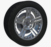 3d model of auto rim wheel