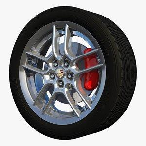 3ds max rim sport wheel boxster