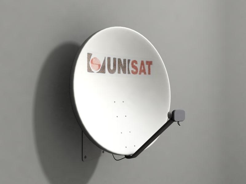 3d 3ds satellite dish