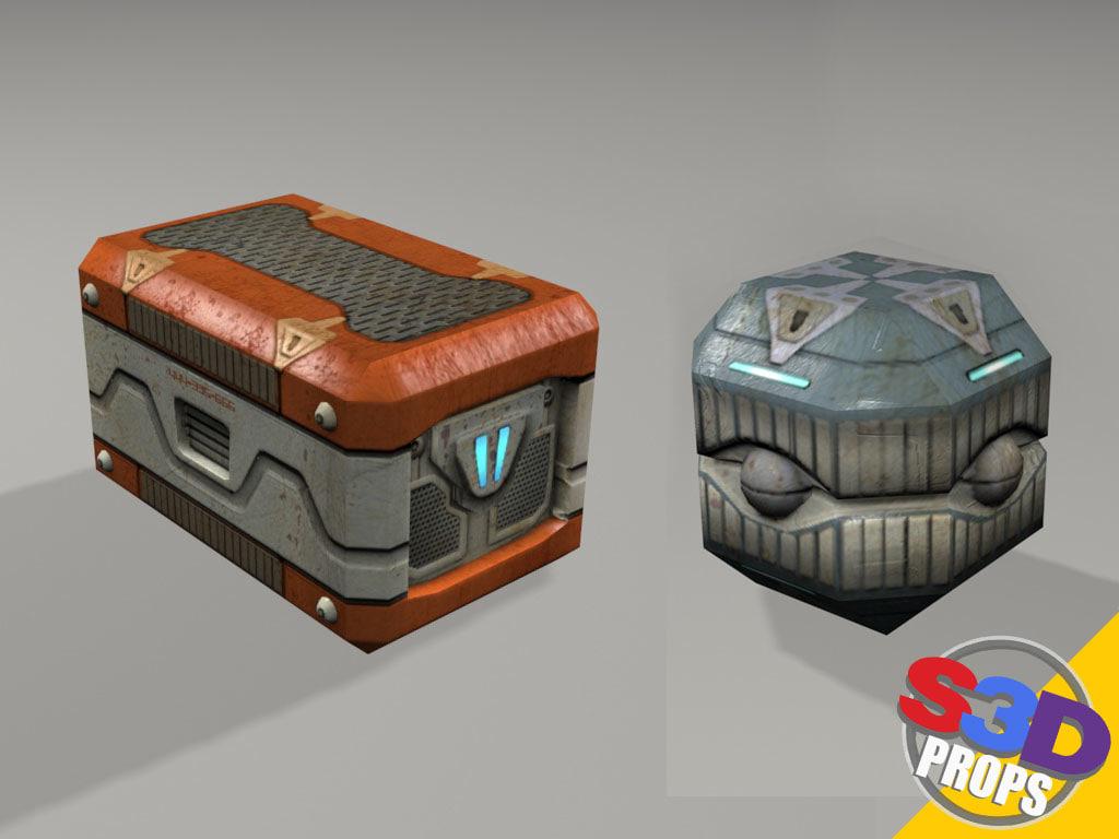 maya sci-fi crates