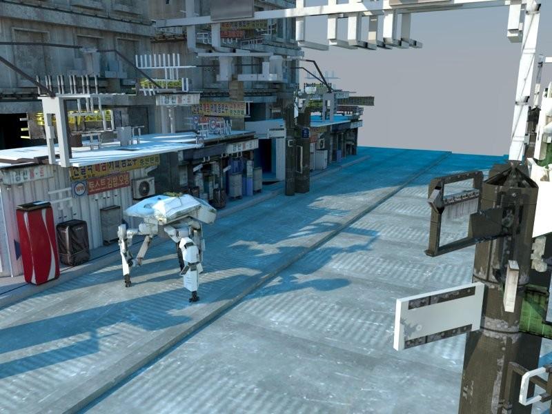 sci fi building asian 3ds