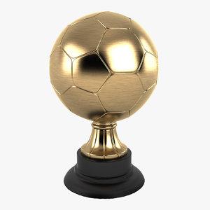 trophy soccer ball 3d model
