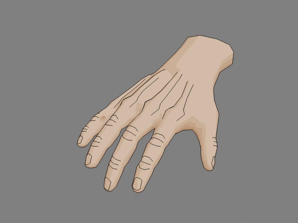 hand cellshaded model