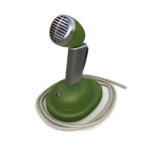 vintage microphone 02 3d 3ds