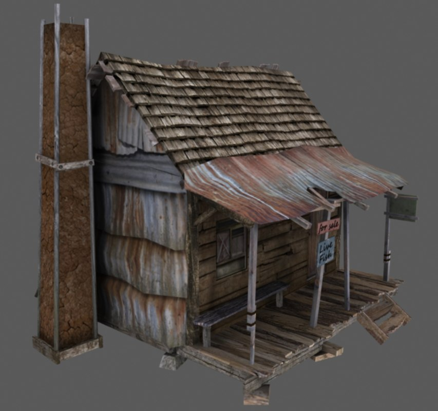 Old american wooden house 3d max for 3d house images free download