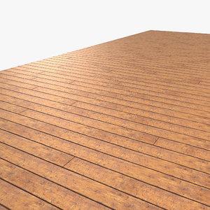 wood wooden plank 3d model